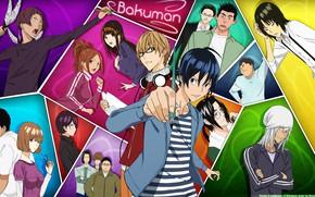 Picture girl, anime, boy, manga, Bakuman, headphone, japonese