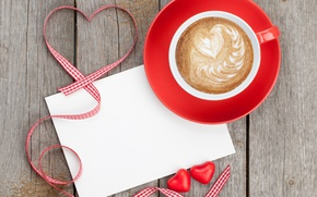 Picture coffee, tape, hearts, love, heart, foam, valentine's day, rockvillephoto
