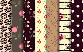 Picture flowers, background, pattern, collection, Floral