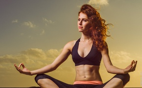 Wallpaper pose, female, yoga