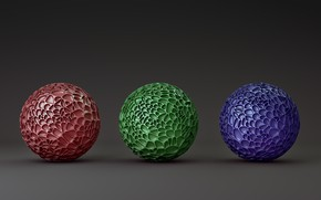 Picture background, balls, trio