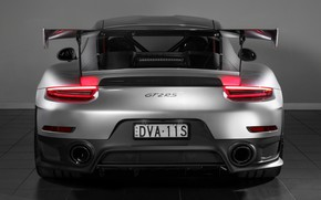 Picture lights, 911, Porsche, rear view, 2018, GT2 RS