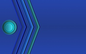 Wallpaper circles, blue, strip, background, colored