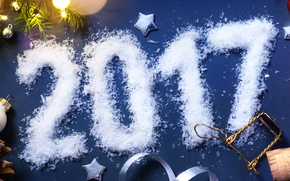 Picture snow, New Year, Christmas, tube, new year, happy, decoration, 2017