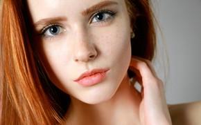 Picture look, face, model, redhead, Bella Milano