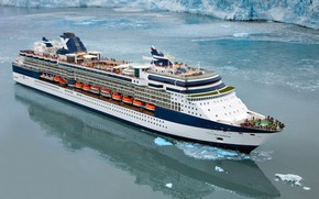 Picture Sea, Liner, The ship, Millennium, Passenger, Celebrity, Passenger liner, Glacier, Celebrity Millennium