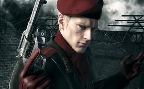 Picture gun, game, weapon, Metal Gear, man, Metal Gear Solid, revolver, gloves, uniform, Metal Gear Solid …