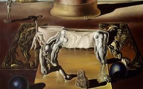 Wallpaper surrealism, picture, Salvador Dali, Salvador Dali, Paranoid Female Horse