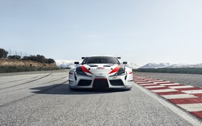 Picture asphalt, track, Toyota, front view, 2018, GR Supra Racing Concept