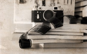 Picture retro, the camera, piano, style, retro, camera, old, plan, the subject, film, Artwork, film