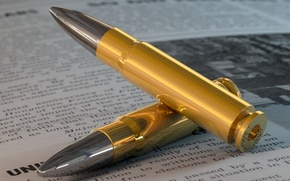 Picture bullet, newspaper, render, render, composition, bullet, composition, newspaper