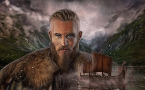 Wallpaper Viking, Art Edit, Vikings Ragnar Lodbrok, Vikings Ragnar Lothbrok, Drakkar