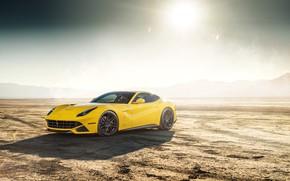 Picture the sun, design, desert, yellow, The Ferrari F12