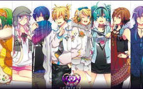 Picture collage, anime, art, Vocaloid, Vocaloid, characters