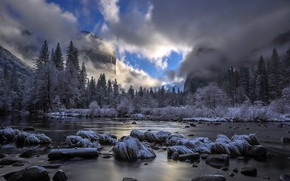 Picture Yosemite, California, Clearing Storm