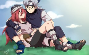 Picture girl, romance, guy, Naruto, Kabuto
