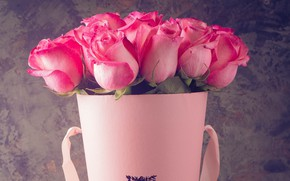 Picture gift, roses, bouquet, buds
