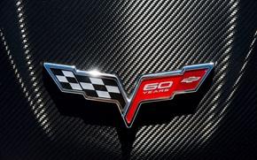 Picture logo, emblem, Chevrolet Corvette