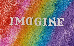 Picture the inscription, rainbow, colorful