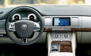 Picture Jaguar, the wheel, salon, dashboard