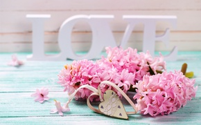 Picture love, vintage, heart, pink, flowers, romantic