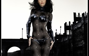 Picture look, bridge, woman, costume, Deeper