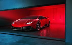 Picture Lamborghini, Red, Supercar, Novitec Torado, Huracan
