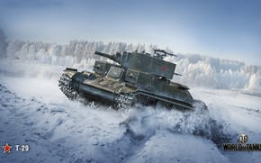 Picture WoT, World of Tanks, Soviet tank, Wargaming, T-29