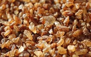 Picture macro, texture, sugar, crystals, brown sugar