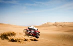 Wallpaper The sky, Sand, Mini, Sport, Desert, Rally, Dakar, Dakar, Rally, Mini, Dune, Buggy, Buggy, X-Raid ...