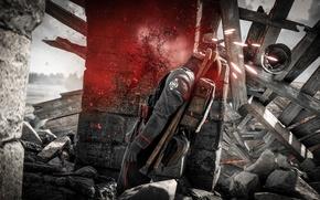 Picture blood, Battlefield, uniform, seifuku, Battlefield 1, shot gun, sodier