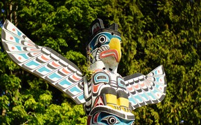 Picture background, Indian, totem pole