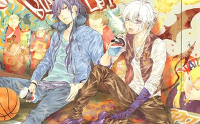 Picture anime, art, guys, two, D.Gray-man