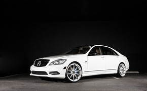 Picture Mercedes, wheels, with, S550, Vossen, CV1