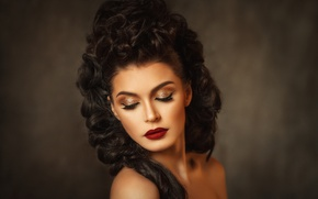Picture girl, portrait, makeup, hairstyle, make-up