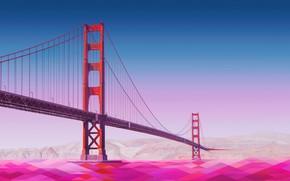 Picture bridge, Golden Gate, low poly