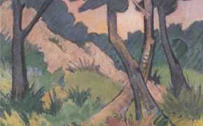 Picture forest, trees, Expressionism, Otto Mueller, Landscape III, ca1924
