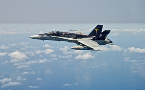 Picture the sky, flight, fighter, FA-18C Hornet