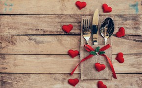 Picture love, heart, spoon, knife, hearts, love, plug, heart, wood, romantic, Valentine's Day, serving