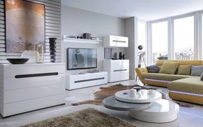 Wallpaper room, interior, living room