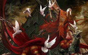 Picture night, blood, twilight, the demon, mouth, chain, pigeons, Church, Chen Wei, sacrifice, boa, black magic, …