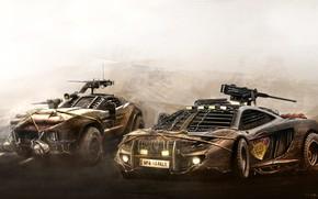 Picture McLaren, Auto, Apocalypse, Machine, Two, Weapons, McLaren MP4, Armor, Art, Combat, kills, Zombies, Yasid Design, …