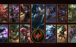 Picture wallpaper, sword, logo, game, wings, ken, blade, League of Legends, LOL, MOBA, Riot Games, hd, …