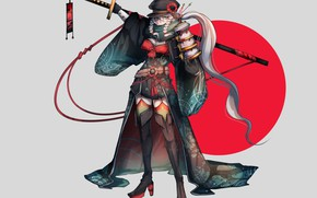 Picture kawaii, Japan, armor, weapon, anime, katana, sun, ken, blade, samurai, asian, martial artist, warrior, powerful, …