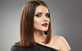 Picture fashion, look, Make-up, lipstick, hairstyle