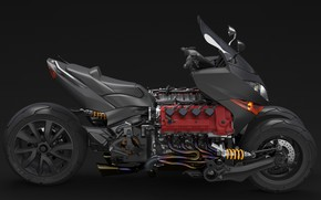 Picture style, motorcycle, motor