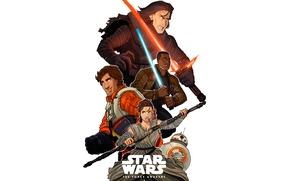Picture Ray, Movie, Finn, Star Wars Episode VII: The Force Awakens, Kylo Ren, BB-8, Rey, Poe ...