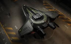 Wallpaper starship, Star Citizen, Anvill Huricane