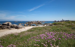 Picture coast, France, France, Brittany, Brittany, Brignogan-Plage