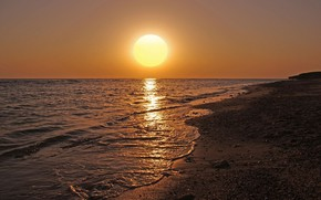 Picture beach, the sun, nature, the ocean, shore